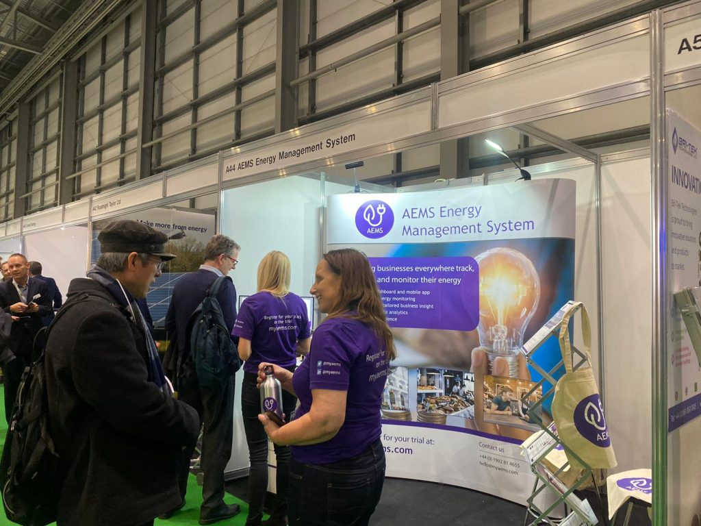 AEMS talking to customers at EMEX show